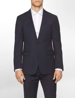 Calvin Klein body slim fit navy pinstripe suit jacket