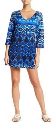 J Valdi Batik 3/4 Length Sleeve Tunic
