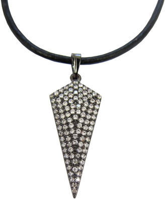 Dripping In Gems Leather Choker with Arrow Charm