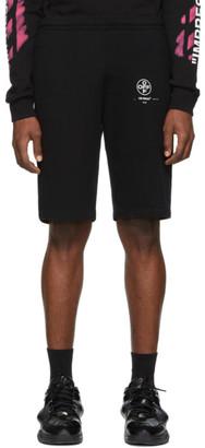 Off-White Off White Black Diag Stencil Shorts
