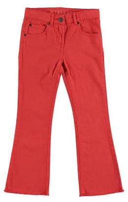 Stella McCartney Skinny Flare Raw-Hem Denim Pants, Size 4-14