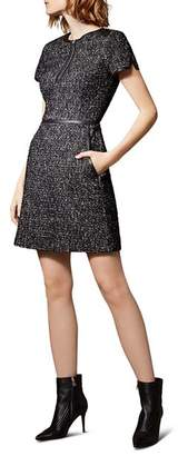 Karen Millen Tweed Zip-Front Dress