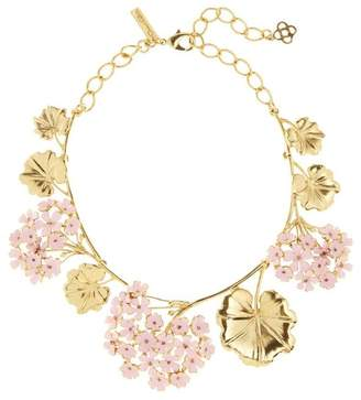 Oscar de la Renta Painted Geranium Necklace