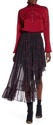 IRO Floral Print Asymmetrical Skirt