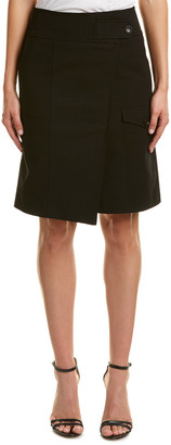 Karen Millen Tailored Faux Wrap Skirt