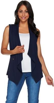 Susan Graver Weekend Stretch Cotton Modal Drape Front Vest
