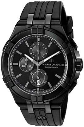 Maurice Lacroix Men's 'Aikon' Swiss Quartz Stainless Steel and Rubber Watch
