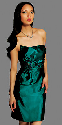 Teal Strapless Homecoming Dresses by Jovani