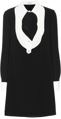 Miu Miu Silk-crepe minidress