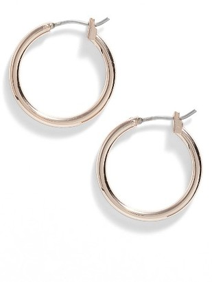 Women's Nordstrom 'Clean' Small Hoop Earrings $19 thestylecure.com
