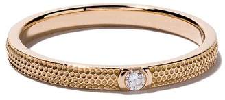 De Beers 18kt rose gold Azulea one diamond band