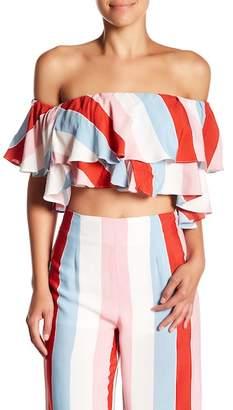 Do & Be Do + Be Striped Off-the-Shoulder Top