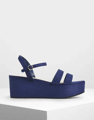 Charles & Keith Double Strap Flatform Sandals
