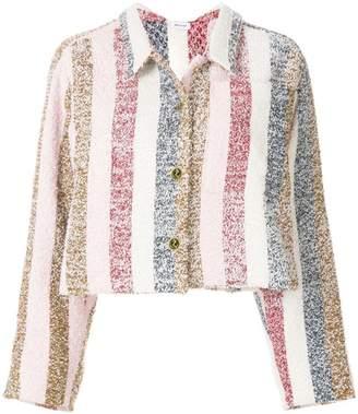 Thom Browne Bow Collar Striped Jacket
