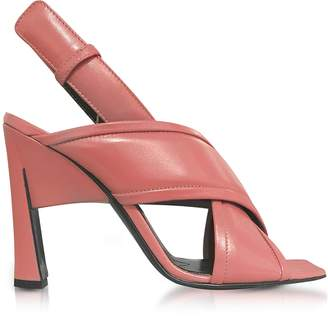 Marni Camellia Leather High Heel Sandals