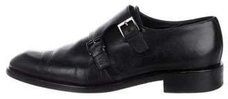 Giorgio Armani Leather Monk Strap Shoes