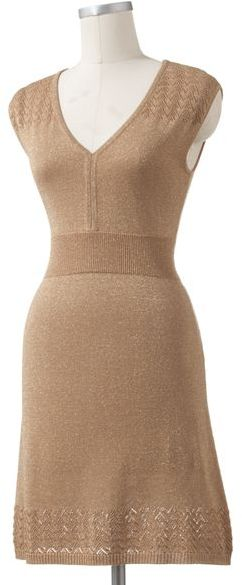 Apt. 9 pointelle lurex sweaterdress