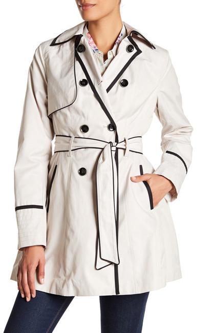 Betsey JohnsonBetsey Johnson Fit & Flare Rain Coat