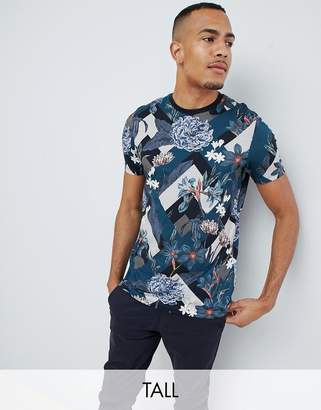 Ted Baker Tall t-shirt with all over floral print