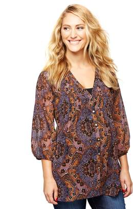 A Pea in the Pod 3/4 Sleeve Maternity Blouse