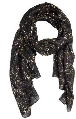 Saachi Black Gold Water Drop Scarf