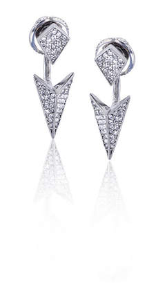 FINE JEWELRY Sterling Silver Cubic Zirconia Spike Double Stud Earring