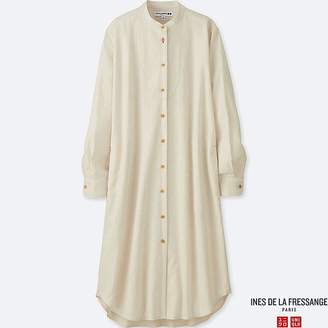 Uniqlo Women's Soft Flannel Long-sleeve Dress (ines De La Fressange)