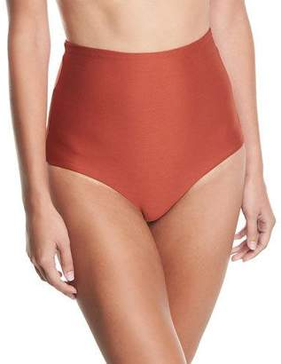 Mara Hoffman Lydia High-Waist Solid Swim Bikini Bottom