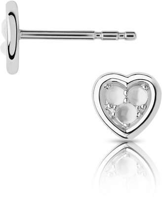 be2a4ec28 Links of London Open Heart Sterling Silver & Moonstone Stud Earrings