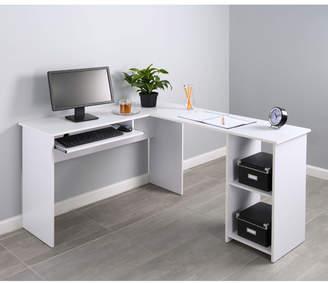 Fineboard Corner Keyboard Tray L-Shaped Computer Desk