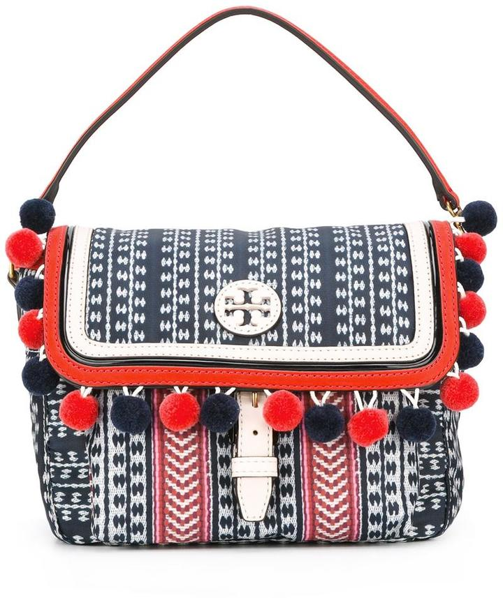 Tory Burch Tory Burch pompom trim crossbody bag