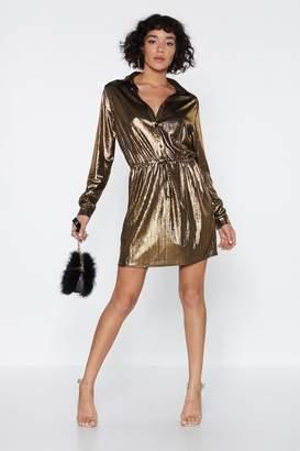 Nasty Gal Billie Jean Metallic Dress