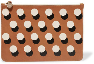 Clare V - Supreme Margot Printed Leather Clutch - Brown