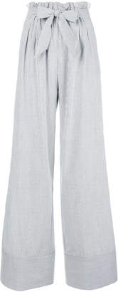 Jonathan Simkhai striped flared trousers
