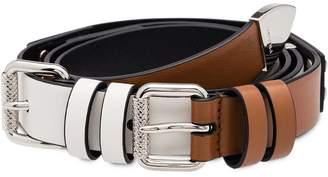 Prada double buckle belt
