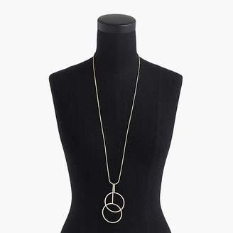 J.Crew Double circle pendant necklace