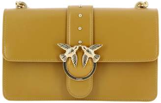 Pinko Crossbody Bags Love Bag Simply 5 In Leather With Studs And Chain Shoulder Strap