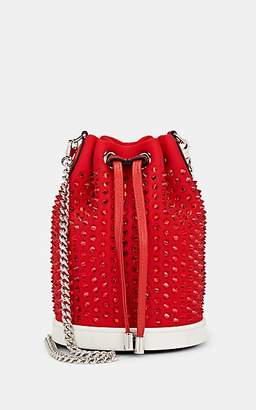 Christian Louboutin Women's Mary Jane Satin Bucket Bag - Red