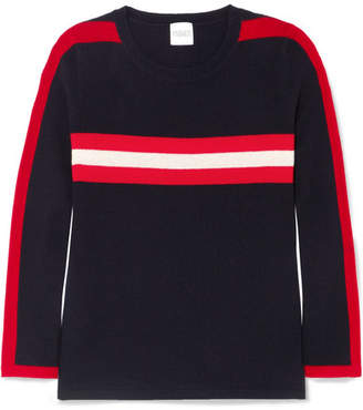 Madeleine Thompson Andrea Striped Cashmere Sweater - Navy