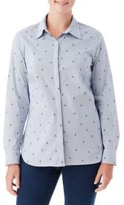 Olsen Anchor Stripe Button-Down Shirt