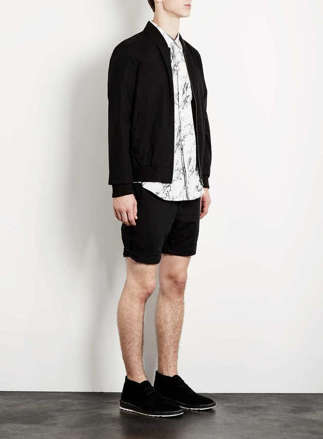 Topman Black Chino Shorts