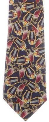 Burberry Abstract Print Silk Tie