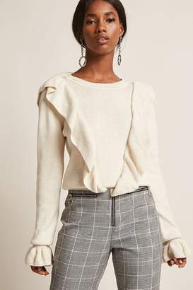 Forever 21 Dual Flounce Sweater