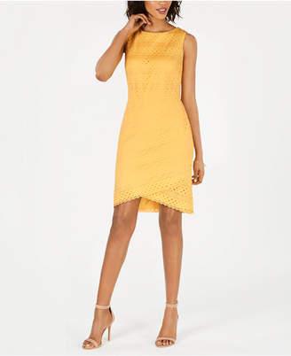 Jessica Howard Lace Tulip-Hem Sheath Dress
