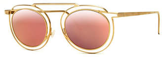 Thierry Lasry Potentially Cutout Round Sunglasses, Pink