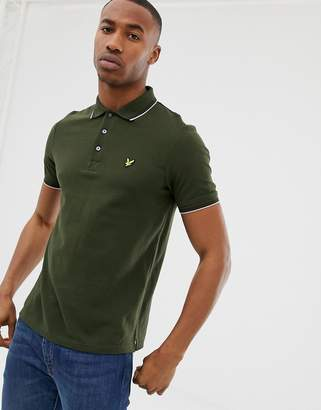 Lyle & Scott tipped polo in green