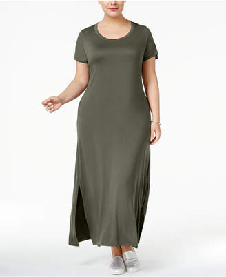 Style&Co. Style & Co Plus Size T-Shirt Maxi Dress