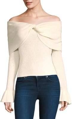 Ella Moss Jasinda Off-The-Shoulder Ribbed Sweater