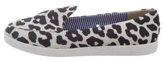 Charles Philip Shanghai Neoprene Animal Print Sneakers