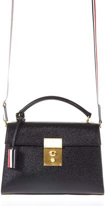 Thom Browne Pubble Black Bag In Leather